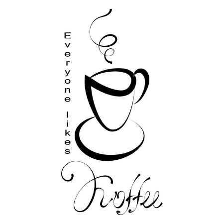 Cap of coffee icon. Black icon on white background.