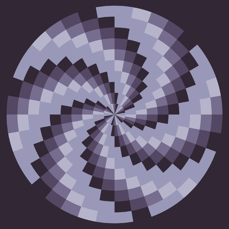 maelstrom: The spiral pattern. Chess texture, psychedelic maelstrom. Pattern Vector. Illustration