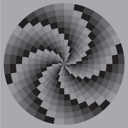 maelstrom: The spiral pattern. Chess texture, psychedelic maelstrom. Black and white pattern Vector.