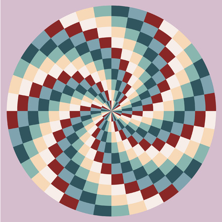 maelstrom: The spiral pattern. Chess texture, psychedelic maelstrom. Color pattern Vector.
