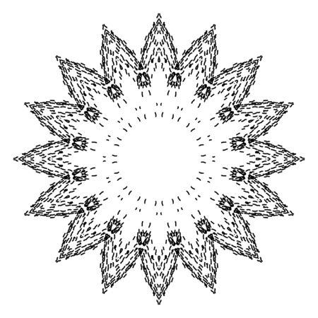 decorative items: Decorative items to decorate your work. Vector design elements. Vector graphic black-white elements for design. Geometric fashion pattern. The circular pattern.