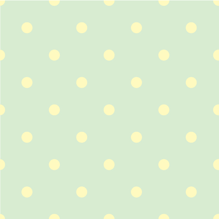 ordered: Abstract vector seamless polka dot background. Seamless pattern of circles ordered. Green background - yellow peas. Drawing for childrens clothing, underwear, toys.
