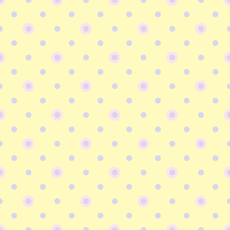 ordered: Abstract vector seamless polka dot background. Seamless pattern of circles ordered. Yellow background. Drawing for childrens clothing, underwear, toys.