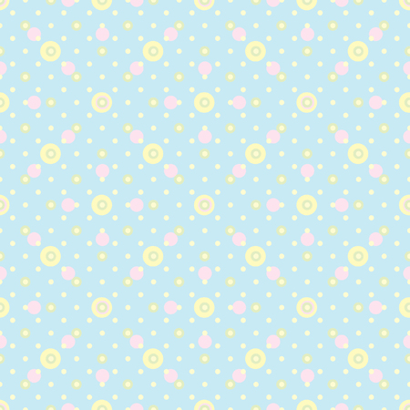 ordered: Abstract vector seamless polka dot background. Seamless pattern of circles ordered. Blue background. Drawing for childrens clothing, underwear, toys.