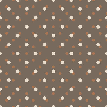 ordered: Abstract vector seamless polka dot background. Seamless pattern of circles ordered. Picture in shades of brown. Picture in shades of brown. Picture for clothes, linen, wrapping paper.