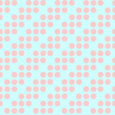 ordered: Abstract vector seamless polka dot background. Seamless pattern of circles ordered. Pink background - yellow peas. Drawing for childrens clothing, underwear, toys. Illustration
