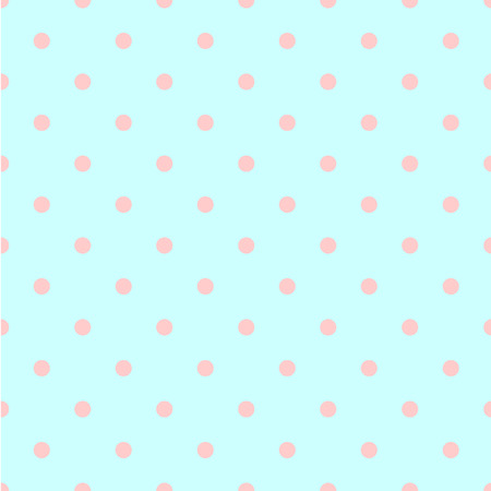 ordered: Abstract vector seamless polka dot background. Seamless pattern of circles ordered. Green background - pink peas. Drawing for childrens clothing, underwear, toys.