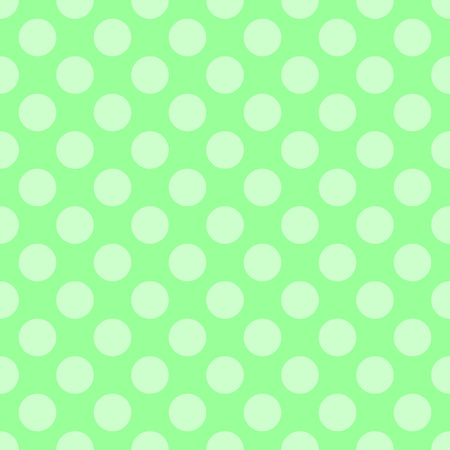 ordered: Abstract vector seamless polka dot background. Seamless pattern of circles ordered. Green background. Drawing for childrens clothing, underwear, toys, paper craft Illustration