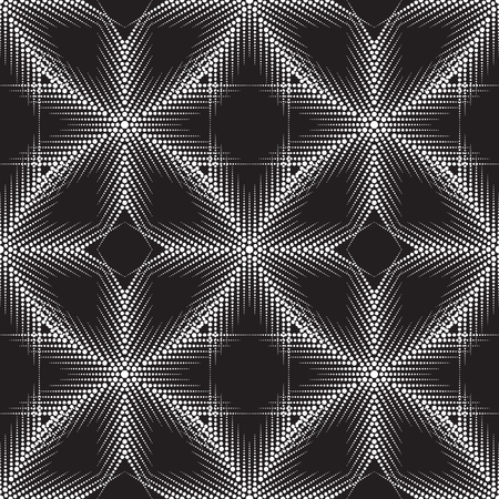 distort: Many black and white circles of different sizes. Abstract seamless pattern. Decorative background with mosaic