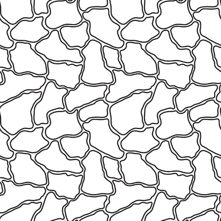 pebbly: Stylized vector pattern of gray stones. Tile, drawing the garden path. Seamless pattern