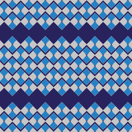 knitwear: Seamless pattern of squares. Color drawing for fabric, knitwear. Geometrical pattern, seamless vector background. For fashion textile, cloth, backgrounds.