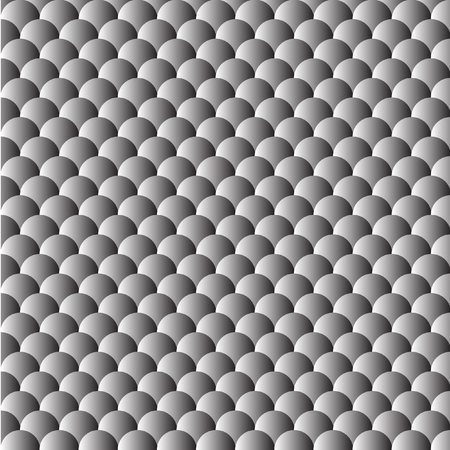 ordered: Seamless pattern of gray circles ordered. Gradient. Vector