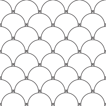 ordered: Abstract vector seamless polka dot background. Seamless pattern of black-white circles ordered