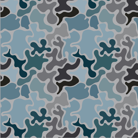 Seamless pattern in the style of military clothing. Military woods camouflage seamless pattern