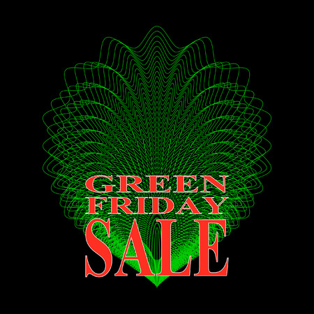 Green Friday. Green palette discount elements. Discounts template. Spring or summer sale. Discounts.