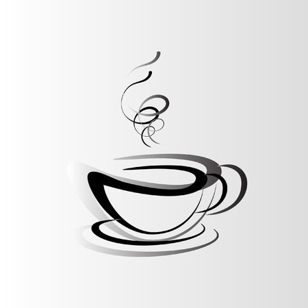 Cup of coffee or tea vector illustration. Coffee icon Illustration