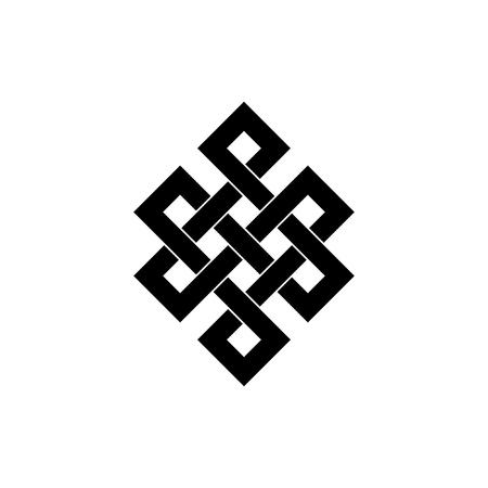 rope folk: Celtic Irish patterns and braids - vector