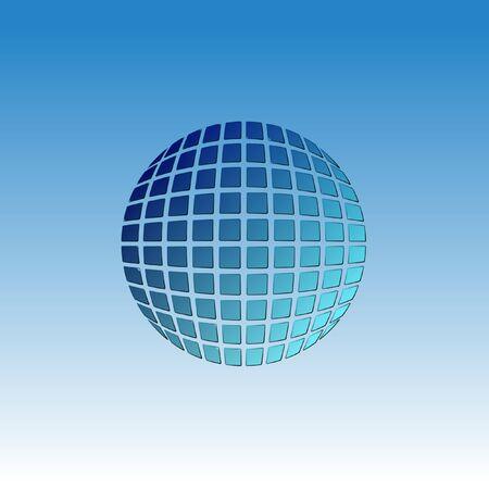 Icono de globo de vector. Icono web abstracto. Plantilla de tierra Signo del mundo Estructura de bola creativa de icono de Geosfera enmarcada.