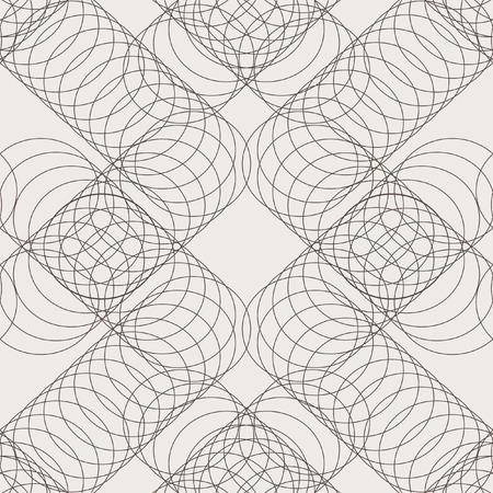 Geometric seamless pattern. An openwork pattern of thin circles. Simple regular background. Vector illustration
