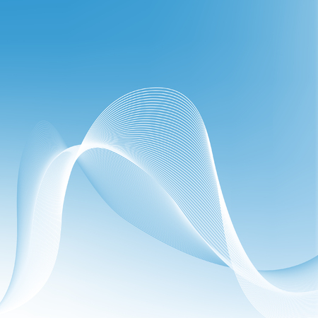 Abstract vector background in shades of blue. Blue smooth background, vector illustration