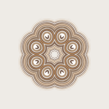 Mandala, circular pattern. A pattern from spirals for your designs. Vector pattern.
