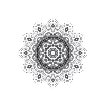 Mandala - circular pattern. A pattern from spirals for your designs. Vector pattern.