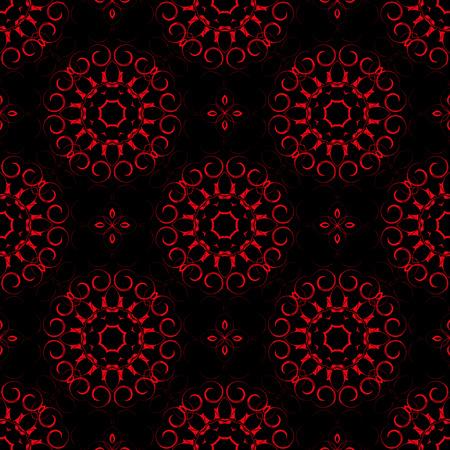 Motif vectorielle floral sans soudure commandé., Vecteur de modèle de décoration fleur filigrane sans soudure