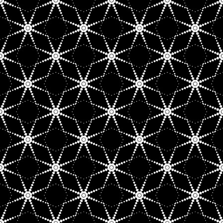 Seamless pattern, cellular structure. Sophisticated graphics vector lattice. Vector seamless texture: endless abstract monochrome geometric pattern. Illustration