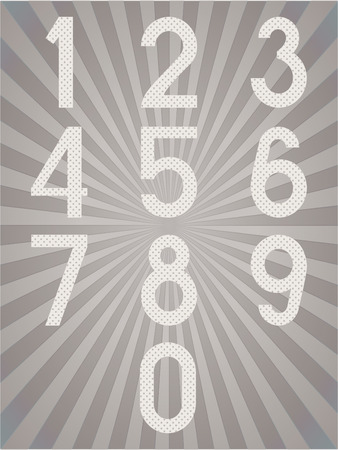 Arabic numerals. Numbers set. Collection of doodle numbers. Vector illustration can be used for web design, booklets, print cards, textile t-shirts, print elements and other.