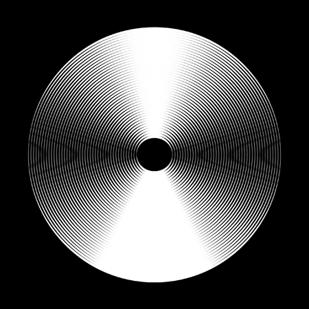 Abstract concentric circle elements. Vector pattern. Black and white graphics.