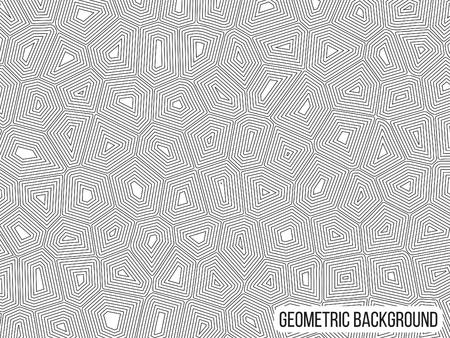 Graphic geometric monochrome black and white pattern Ilustrace