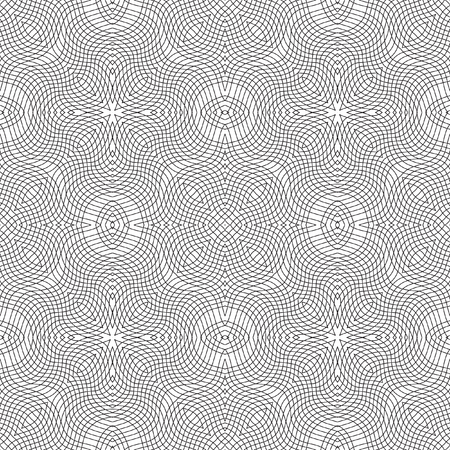 Abstract mosaic pattern. Regular ornament of geometric elements. Seamless vector tile texture pattern in east, damascus, Islamic style. Ilustração