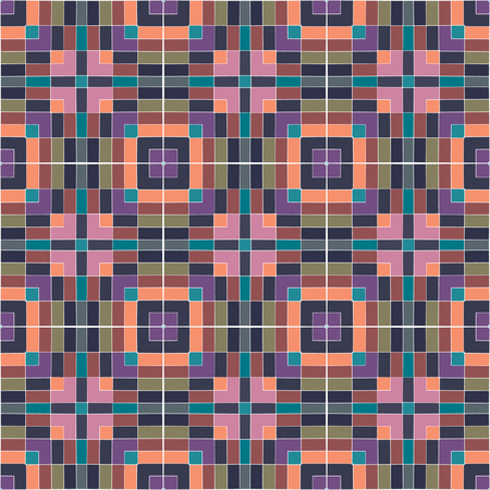 textile image: A colored pattern of square repeating elements. Seamless geometric pattern. Abstract colorful vector background for continuous replicate.