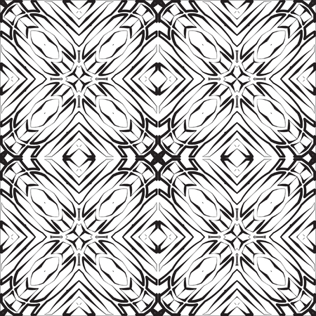 Abstract mosaic pattern. Regular ornament of geometric elements. Seamless vector tile texture pattern in east, damascus, Islamic style. Reklamní fotografie - 87807965