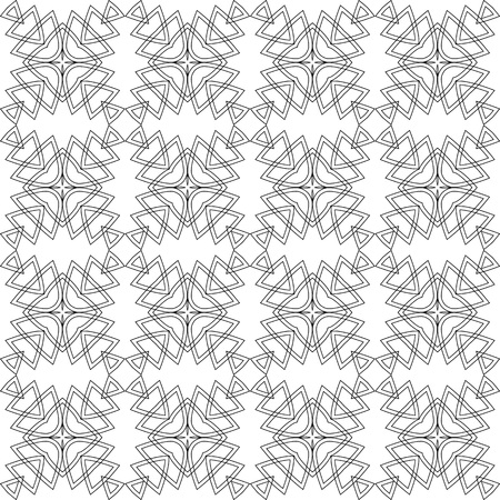 A Seamless black and white geometric pattern. A Vector abstract openwork background. A template with a geometric order.