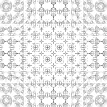 A Vector pattern of intersecting and nested squares. A black and white grid layout.