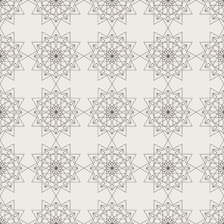 A Seamless geometric pattern of circular elements. The pattern of mandalas. Wallpaper ornamental texture, tiled. Arabic, Islamic, moroccan, asian, indian native motifs.