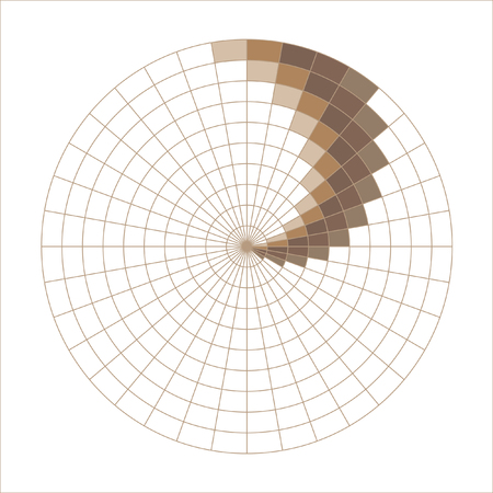 The spiral pattern. Chess texture, psychedelic maelstrom. Brown, coffee color pattern Vector.