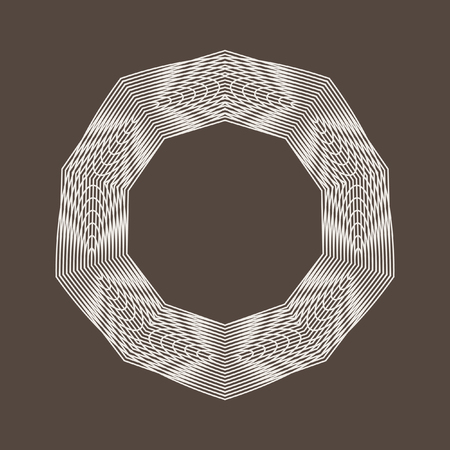 Decorative items to decorate your work. Vector design elements. Vector graphic elements for design. Geometric fashion pattern, optical illusion