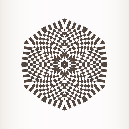 Decorative items to decorate your work. Vector design elements. Geometric fashion pattern. Vector star, snowflake, round pattern. Illustration