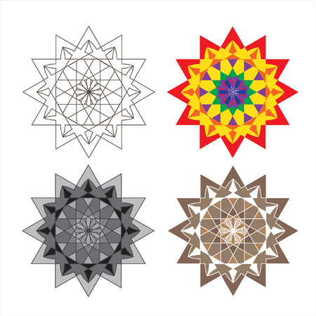 Mandala. The circular pattern. Graphic template for your design. Monochrome image. Decorative retro ornament.