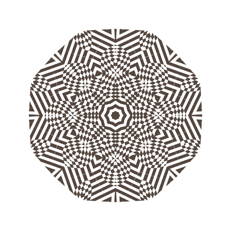 Beautiful strict mathematical circular pattern of traditional motifs and oriental ornaments. Vintage decorative elements. Mandala. Round ornament background.