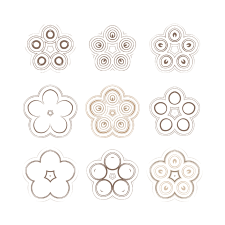 Mandala - circular pattern. A pattern from spirals for your designs. Vector pattern set. Illustration
