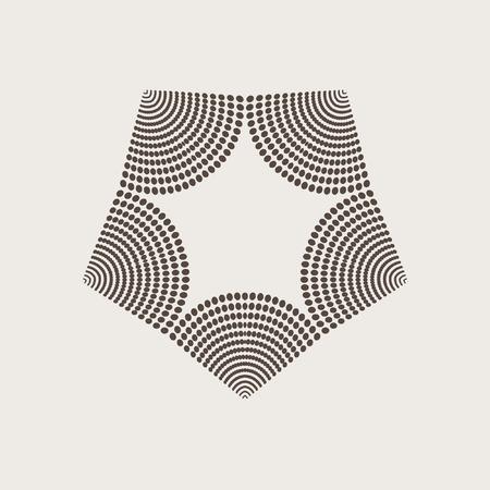 Vector graphic halfton elements. Vector design element. Geometric fashion pattern. Vector star, snowflake, round pattern.