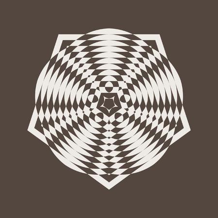 Decorative items to decorate your work. Vector design elements. Geometric fashion pattern. Vector star, snowflake, round pattern. Ilustração