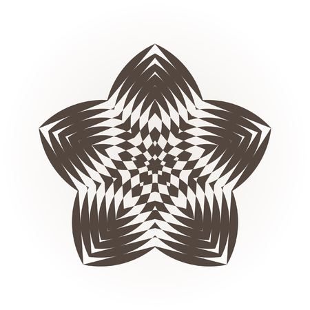 Decorative items to decorate your work. Vector star, snowflake, round pattern. Vector graphic elements for design. Geometric fashion pattern.