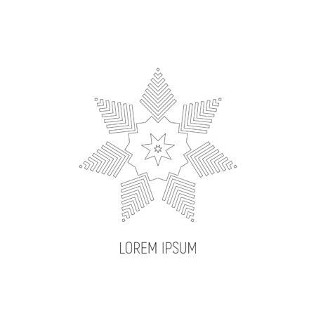 Black-white Circular pattern  icon. Vector illustration Ilustração