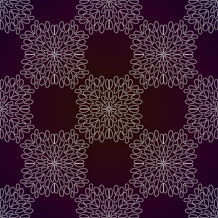 Abstract seamless pattern of repeating square geometric elements. Light pattern on a dark background. Vector