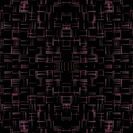 Seamless vector pattern. Abstract background. Ordered strokes on a black background