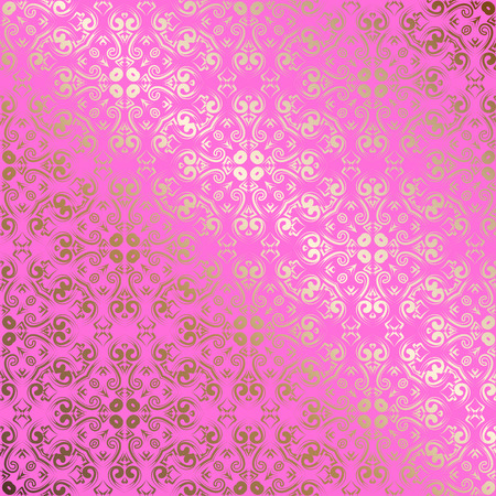 Vector abstract seamless openwork gold pattern with geometrical order.